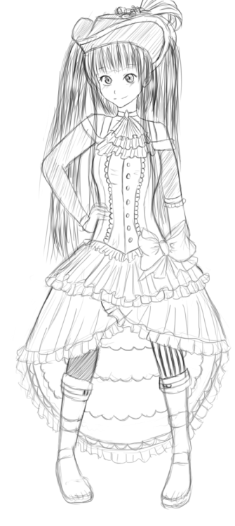anastasparkles:  Erika in a pirate outfit! OuO I dunno I was bored okay…