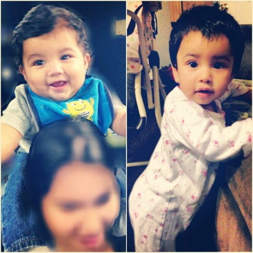 Happy 1st Birthday Dominic & Celeste! I love my little baby childs, I hope they enjoy their 1st birthday.❤(: