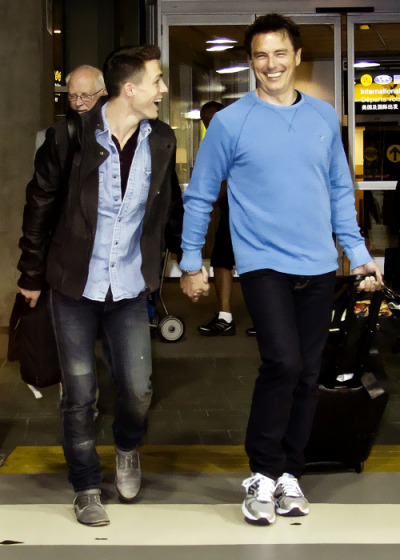 Colton Haynes and John Barrowman (x)