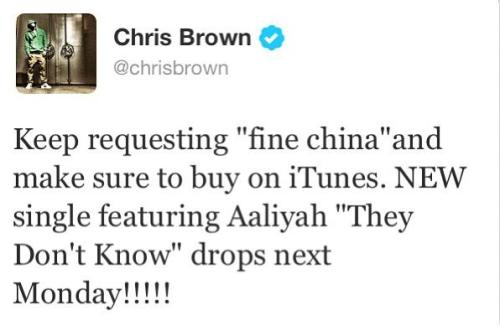 "lovingcbreezy:  Chris Brown's next single ft. Aaliyah ""They Don't Know "" drops next Monday,May 27th!!!"