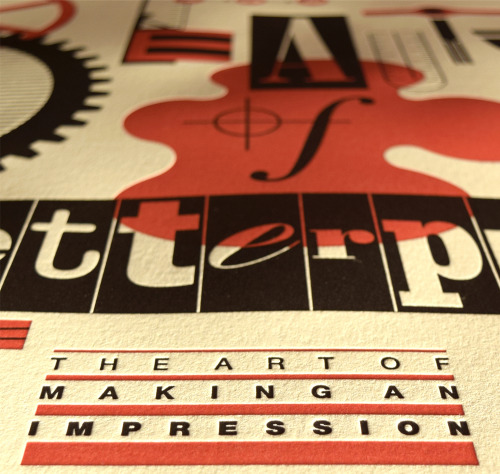 The Beauty of letterpress posterThis looks fun. The lettering is...