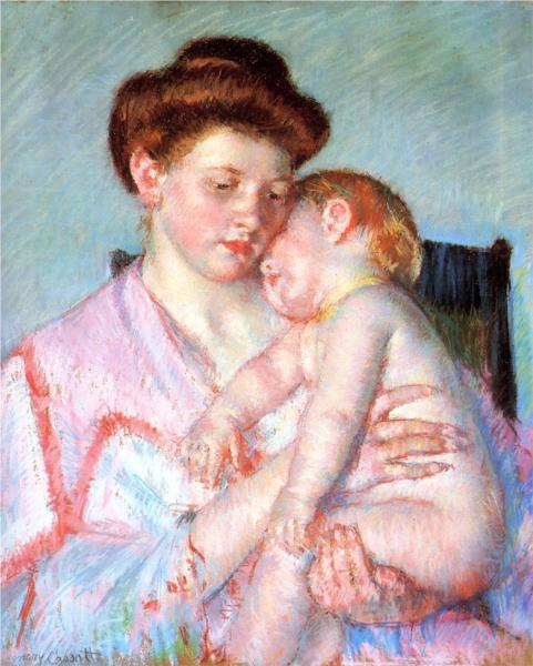 Mary Cassatt, Sleepy Baby, 1910.