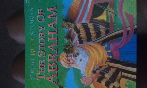 Before I knew it I was rolling on the kids book 'The Story of Abraham'. Accident, I usually try to be more careful.