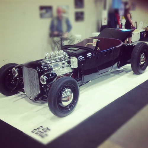 #DetroitAutorama this is what my roadster would be if it ever grew up… Badass 1927 Ford Roadster