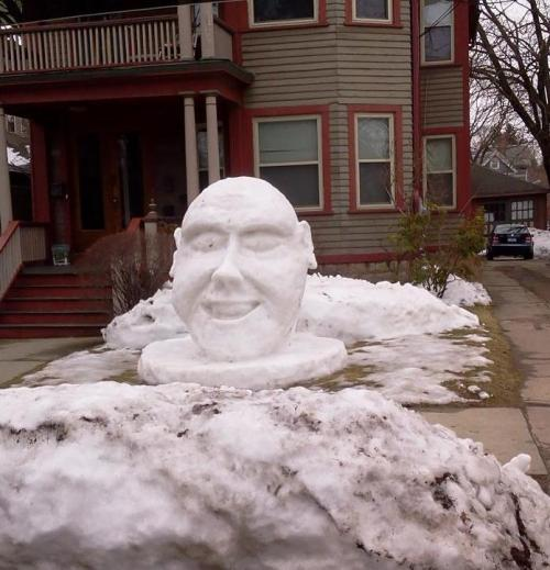 NEWS 8 Report It Photo of the Day: A face in the snow, as pictured on Ellsworth Street in New Haven, Conn. Photo sent in via Report It by Mike.
