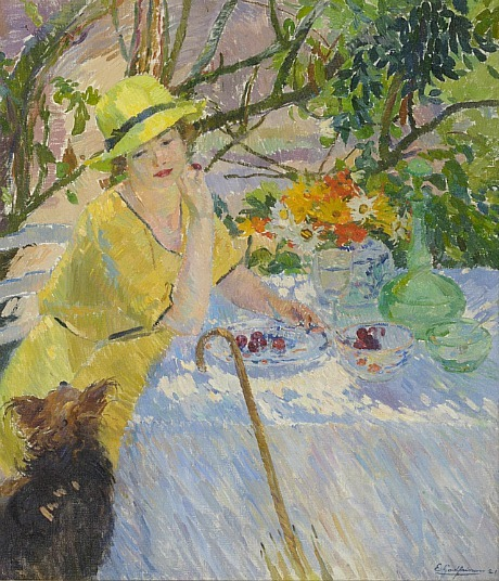 E.J.J. Godfrinon On the Terrace 1921