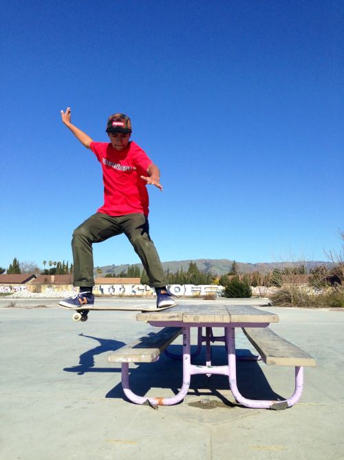 J-Cup at the spot with his frontside burger slide.