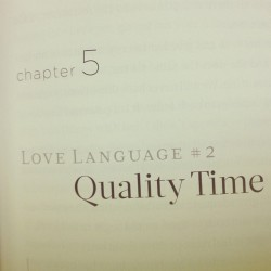 On my section of #fivelovelanguages #qt w/ @luvlysweet_t #books