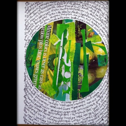 For the Get Messy Season of Finishing, from a project that seems to have flopped. Green. Collage. #getmessyartjournal#getmessyart#gmseasonoffinishing#artjournal#artjournaling#visualjournal#visualjournaling#collage#artjournalpage#artjournals#artistsoninstagram#visualjournals#green