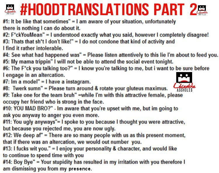 hoodrat, ghetto, ratchet, translations,