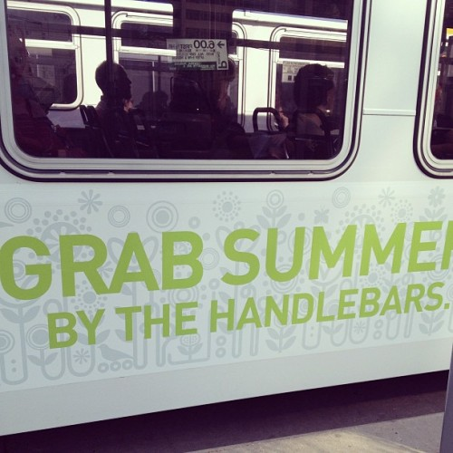 Number 86: bus advertisements #morningcommuters #bus #summer
