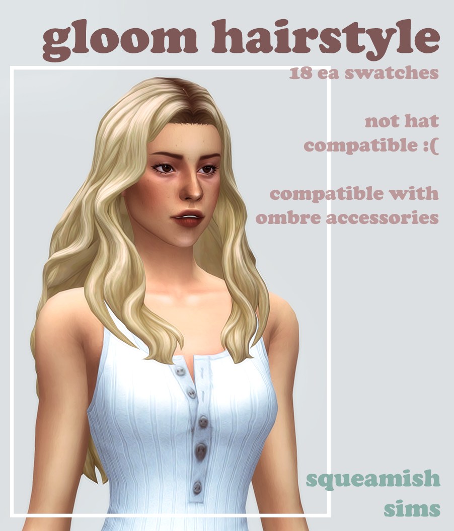 squeamish ew — gloom hairstyle by squeamishsims I made this