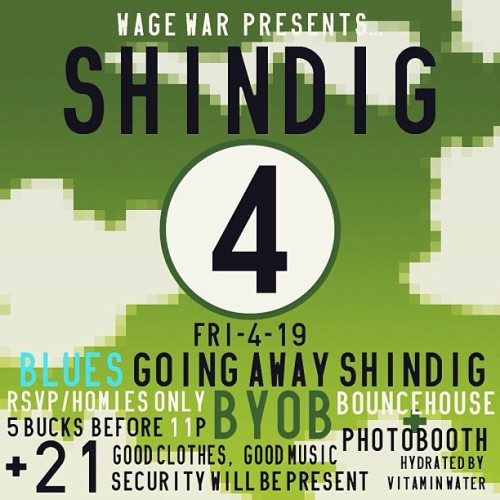 #wwshindig4 Friday my last night in Dallas. Come thru and kick it. RSVP WWShindigs@gmail.com with name/s. 👐