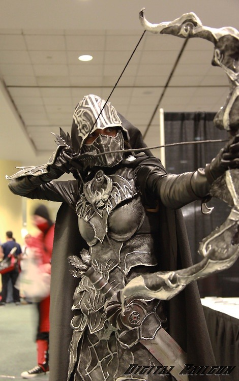 genocidesguides:  justcallmesensei:  i love skyrim cosplayers<3  This is brilliant. o: