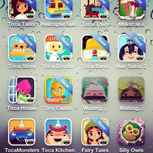 When I buy the monkeys games on their iPods, they show up on my phone. In case you're wondering why I'm in front of you at Target getting super pissed at how hard that Silly Owls level is. Also: these Toca Boca games are gorgeous.