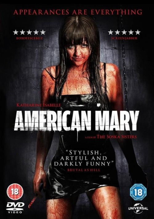 hornydevilxxx:  American Mary  I totally adore this film. A sub lent it me knowing it'd hit my sadist buttons. Don't think we've played since lol