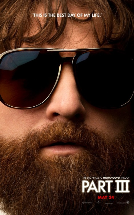 "Alan Gets His Own Character Poster For ""The Hangover Part III"" Warner Bros. Pictures has released the character poster for the final member of the wolf pack, Alan.  In the same line as the previous character banners, this poster features the mugshot of star Zack Galifianakis with his trademark shades and beard as well as the tagline ""This is the best day of my life"" referencing one of the lines he says in the trailer.  The Hangover Part III opens up on May 24th and also stars Bradley Cooper, Ed Helms, Melissa McCarthy, Ken Jeong, John Goodman, Heather Graham, Justin Bartha, Jamie Chung and Mike Epps. [IMPAwards] —— Featured:   The Seat of the Gods Friend Us: Facebook and Twitter"