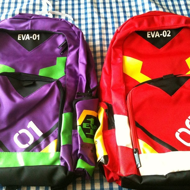 ramunesouda:  The backpacks Rachel and I ordered arrived today!!!