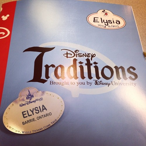 Got my #Disney name tag!!!