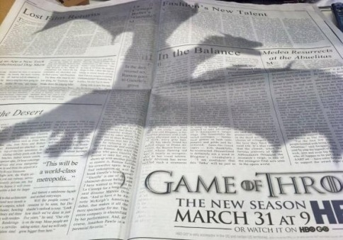 Awesome Game of Thrones ad campaign.