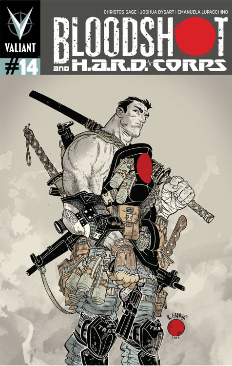 comicblah:  Bloodshot and H.A.R.D. Corps. #14 cover by Rafael Grampa