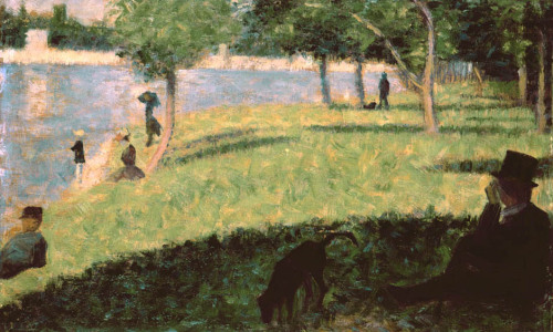 "ihatenietzsche:  Study for ""Sunday Afternoon on the Island of La Grande-Jatte"", Georges Seurat"