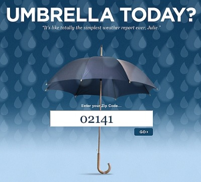 Umbrella Today home page
