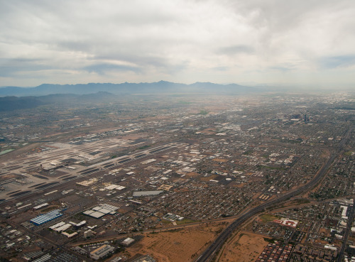 PHX east transition. Downtown Phoenix and Sky Harbor in view.