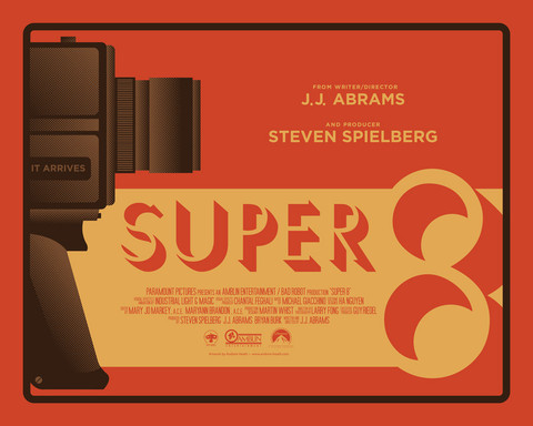 "My Super 8 piece from Gallery 1988's Bad Robot show is now available online. HERE!  ""Super 8"" 3 color screenprint 16 x 20 inches signed and numbered edition of 50"