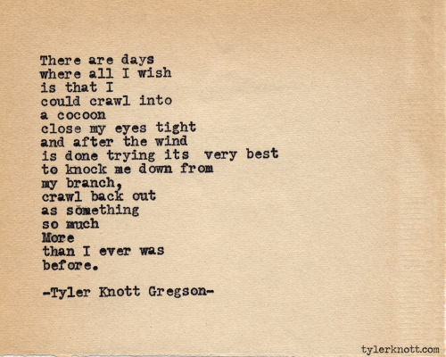 Typewriter Series #403 by Tyler Knott Gregson