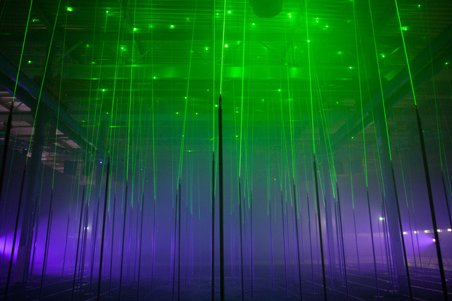 Laser Forest is the lastest creation from a creative studio known as Marshmallow Laser Feast comprised of Memo Akten, Robin McNicholas, and Barney Steel who have focused almost exclusively on creating interactive experiences over the past two years.