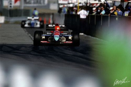 1993 Japanese Grand Prix. That one time Eddie Irvine unlapped himself by passing Ayrton Senna who then proceeded to charge down to Irvine's pits and punch him in the face after the race had finished. Good times.