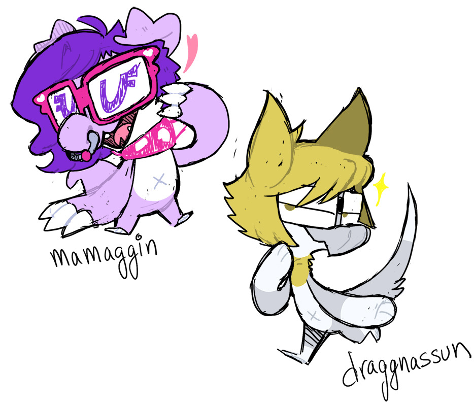 itsgrindtime:  more buddies as draggins!!!!i gotta do a finished pic of them sometime….one day…… all my friends will be draggins……………………