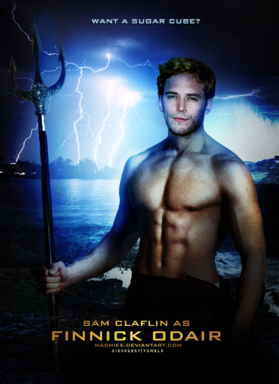 Sam Claflin as Finnick Odair Poster (bigger version)
