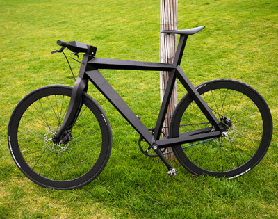 The X-9 Nighthawk Bike Frame looks like the stealth fighter jet.