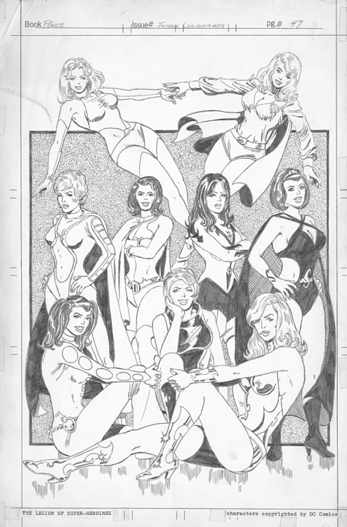The women of the Legion by George Perez, circa 1977.