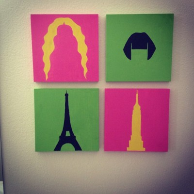 notthecliche:  Finally hanging up my work! #nyc #newyork #carriebradshaw #satc #paris #france #amelie