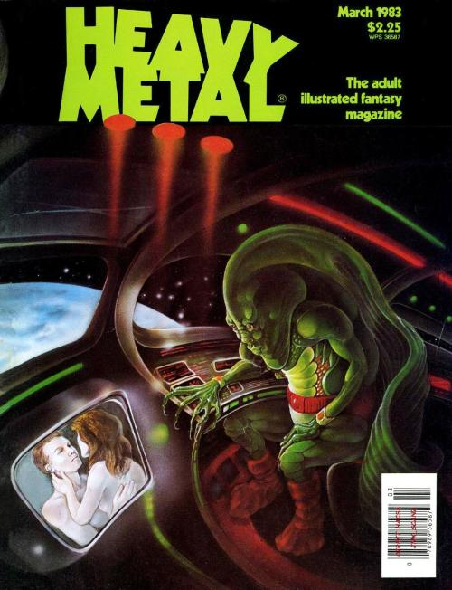 Heavy Metal - where creepy aliens like to secretly watch white people make love.