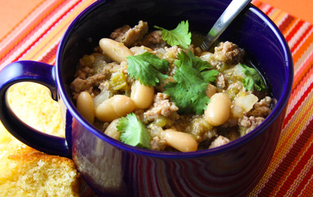 Delicious white chili for a cold weekend.