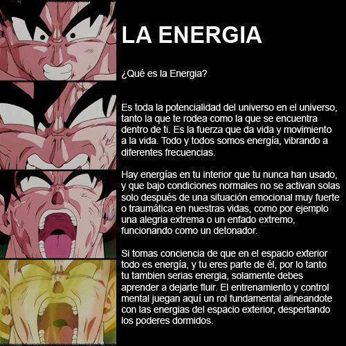 La energia… el poder. The energy… the power.