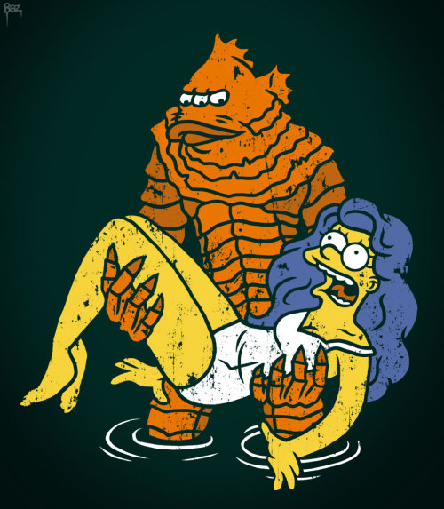 The Mutant Orange Creature From Lake Springfield !! At RedBubble : http://www.redbubble.com/people/baznet/works/10194028-mutant-creature