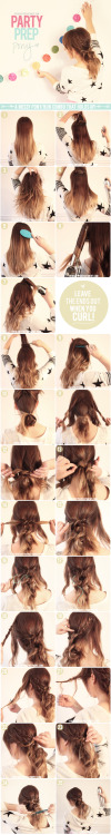 DIY - Party prep pony hair tutorial.