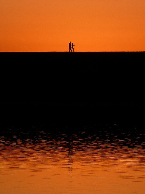 Walking at Sunset by MaestroBen on Flickr.