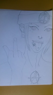 yoshiii-igi:  Meto outlines  No time for color :'(