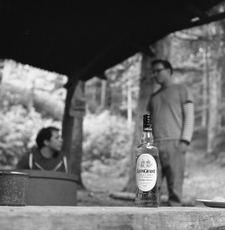 A weekend at the cabin… For relaxing times, make it Glen Grant time!  Rolleicord V, TriX