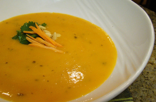 veganfeast:  Cream of Carrot Soup on Flickr.