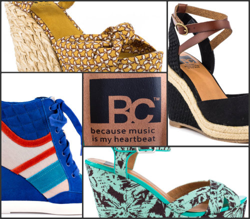 New Brand Alert: BC Footwear BC Footwear features beautiful and colorful styles inspired by vintage looks with a modern spin. With the wide variety of wedges and sandals, it will be easy to channel west coast cool with a laid back attitude. Heels.com is excited to bring you these eclectic statement making silhouettes for everyday wear!