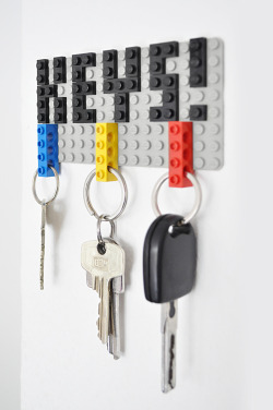 robotcosmonaut:  Lego Key Holder