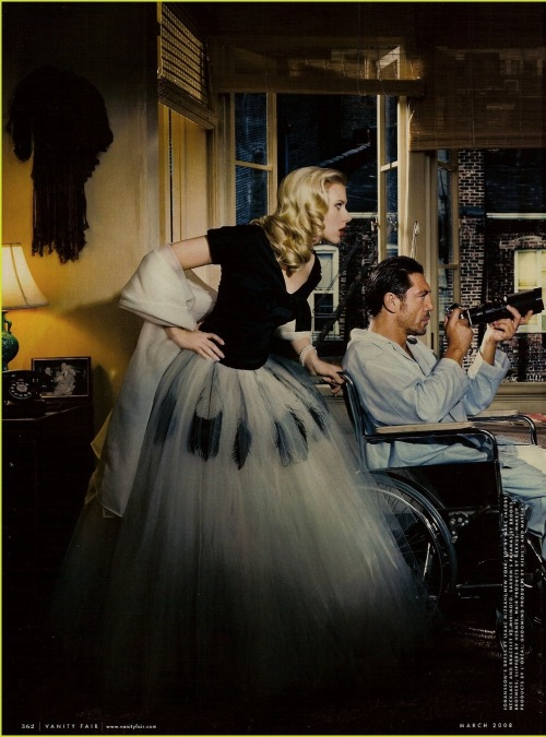 thefashionatelier:  Scarlett Johansson & Javier Bardem photographed by Annie Leibovitz for Vanity Fair US March 2008