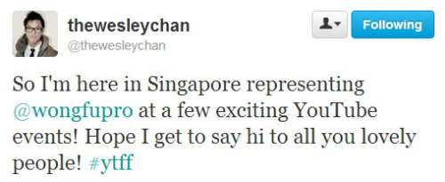 peeps in Singapore, keep your eyes peeled ;)